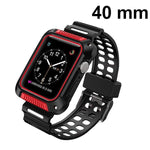 MYBAT Black/Red Silicone Sport Watchband With Case For APPLE Watch Series 5 40mm