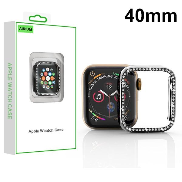 MYBAT Electroplated Black Apple Watch Case (with Diamonds)(with Package) For APPLE Watch Series 5 40mm