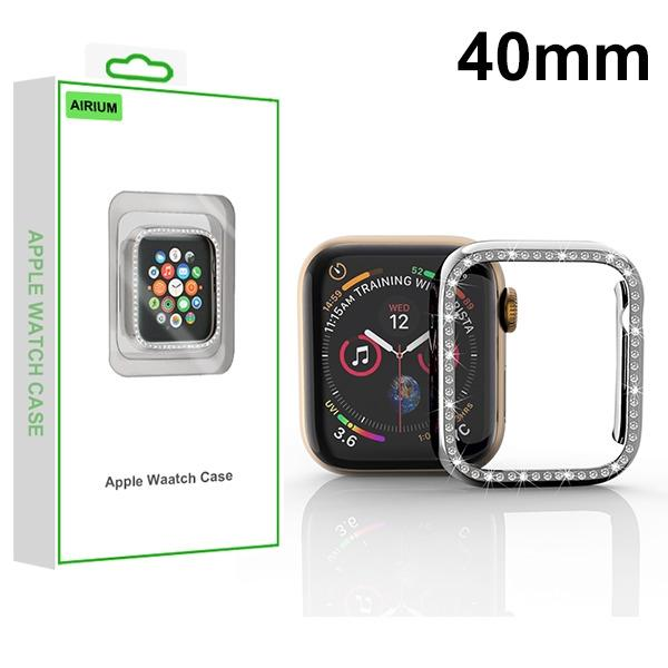 MYBAT Electroplated Silver Apple Watch Case (with Diamonds)(with Package) For APPLE Watch Series 5 40mm
