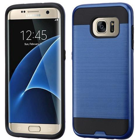 MYBAT Hybrid Protector Cover Case (Dark Blue/Black) For Samsung Galaxy S7 Edge