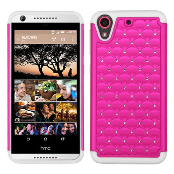 MYBAT TotalDefense Protective Cover Case (Hot Pink/White)