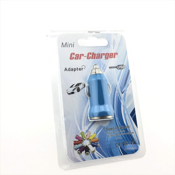 Plug - USB Car Charger Plug (Light Blue)