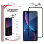 Screen Protector - Full-screen Coverage (Cellular Dust Prevention For Receiver)(Black) Tempered Glass Screen Protector For IPhone 11, IPhone XR