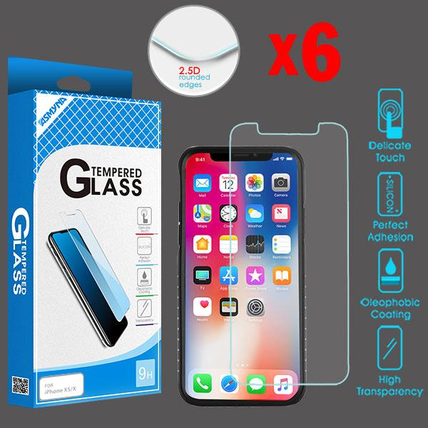 Screen Protector - MYBAT (2.5D) (6-pack) Tempered Glass Screen Protector For IPhone 11 Pro, IPhone X, IPhone XS