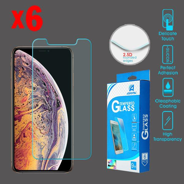 Screen Protector - MYBAT (2.5D) (6-pack) Tempered Glass Screen Protector For IPhone 11 Pro Max, IPhone XS Max