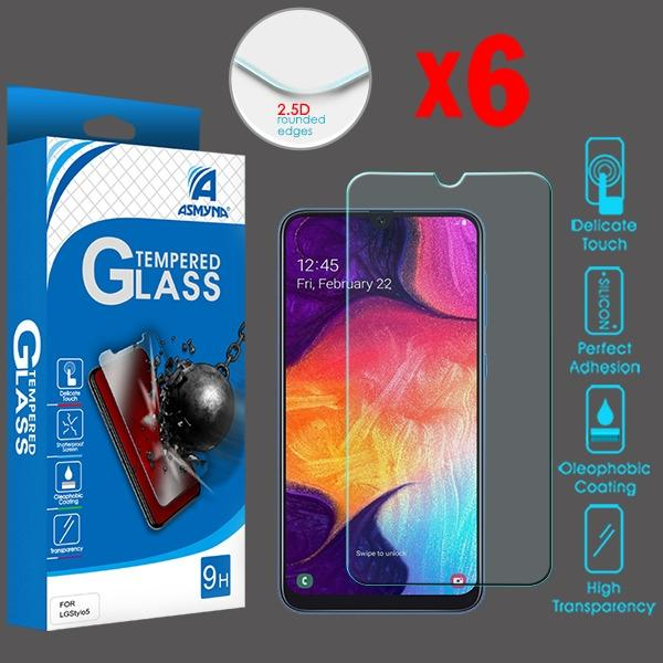 Screen Protector - MYBAT (2.5D) (6-pack) Tempered Glass Screen Protector For Samsung Galaxy A20, Samsung Galaxy A50