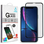 Screen Protector - MYBAT (Black) Full Coverage Tempered Glass Screen Protector For IPhone 11, IPhone XR