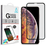 Screen Protector - MYBAT (Black) Full Coverage Tempered Glass Screen Protector For IPhone 11 Pro Max, IPhone XS Max