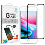 Screen Protector - MYBAT (Black) Full Coverage Tempered Glass Screen Protector For IPhone 6, IPhone 6S, IPhone 7, IPhone 8