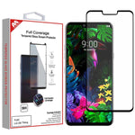 Screen Protector - MYBAT (Black) Full Coverage Tempered Glass Screen Protector For LG G8 ThinQ