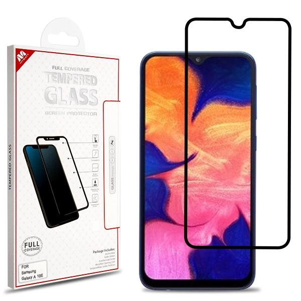 Screen Protector - MYBAT (BLACK) Full Coverage Tempered Glass Screen Protector For Samsung Galaxy A10e