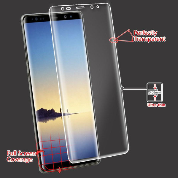 Screen Protector - MYBAT Curved Coverage Screen Protector For Samsung Galaxy Note 8