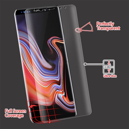 Screen Protector - MYBAT (with Curved Coverage) Screen Protector For Samsung Galaxy Note 9