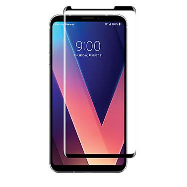 Screen Protector - Uolo Black Shield 3D Tempered Glass Screen Protector For LG V30