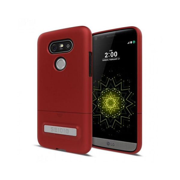 Seidio SURFACE Case With Metal Kickstand Case (Dark Red / Black) For LG G5