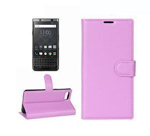 Smartphone Experts Flip Leather Case With Card Slots & Wallet (Purple) For BlackBerry KEYone Limited Edition Black, KEYone