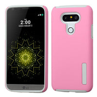 Smartphone Experts Hybrid Protective Case (Pink/Grey) For LG G5