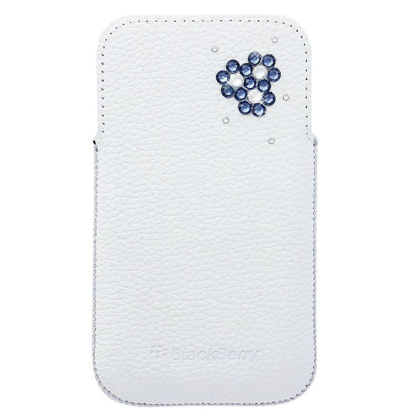 Smartphone Experts Leather Pocket Decorated With SWAROVSKI Elements For BlackBerry Leap