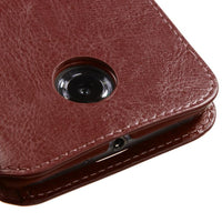 Smartphone Experts MyJacket Wallet Case With Card Slot (Brown) For Motorola Moto X (2nd Gen.)