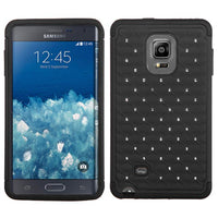 Smartphone Experts TotalDefense Protective Case (Black Luxurious Lattice Dazzling)  For Samsung Galaxy Note Edge