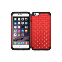 Smartphone Experts TotalDefense Protective Case (Red/Black) Luxurious Lattice Dazzling) For IPhone 6S Plus, IPhone 6 Plus