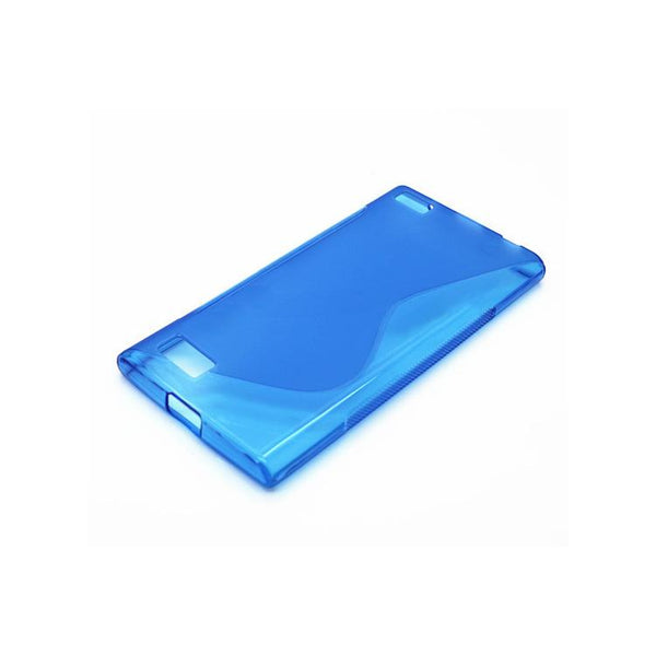 Smartphone Experts TPU S-Wave Soft Case (Blue) For BlackBerry Leap