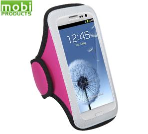 Vertical Universal Sport Armband Pouch Case (Hot Pink)