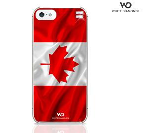 White Diamonds Canadian Flag Case With Swarovski Elements For IPhone 5, IPhone 5S, IPhone SE
