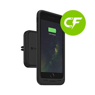 Wireless Charging - Mophie Black Charge Force Vent Mount
