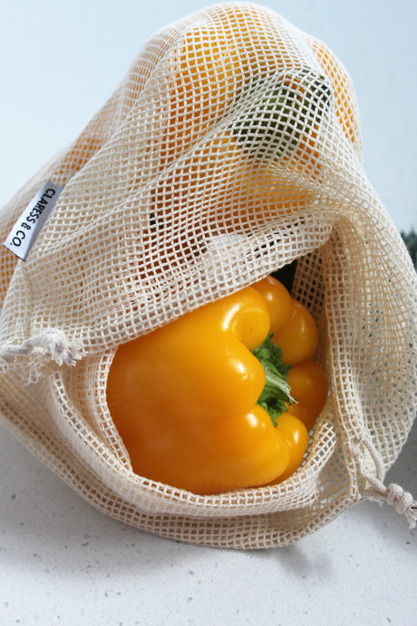 ORGANIC COTTON PRODUCE BAGS - MIXED SET 6 PACK