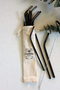 COTTON CARRY POUCH (STEEL STRAWS)