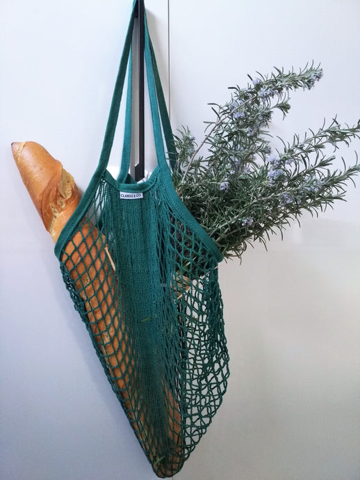 ORGANIC COTTON STRING MARKET BAG - EXTRA LONG HANDLE