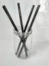 Load image into Gallery viewer, BLACK STAINLESS STEEL STRAW - STRAIGHT 8mm