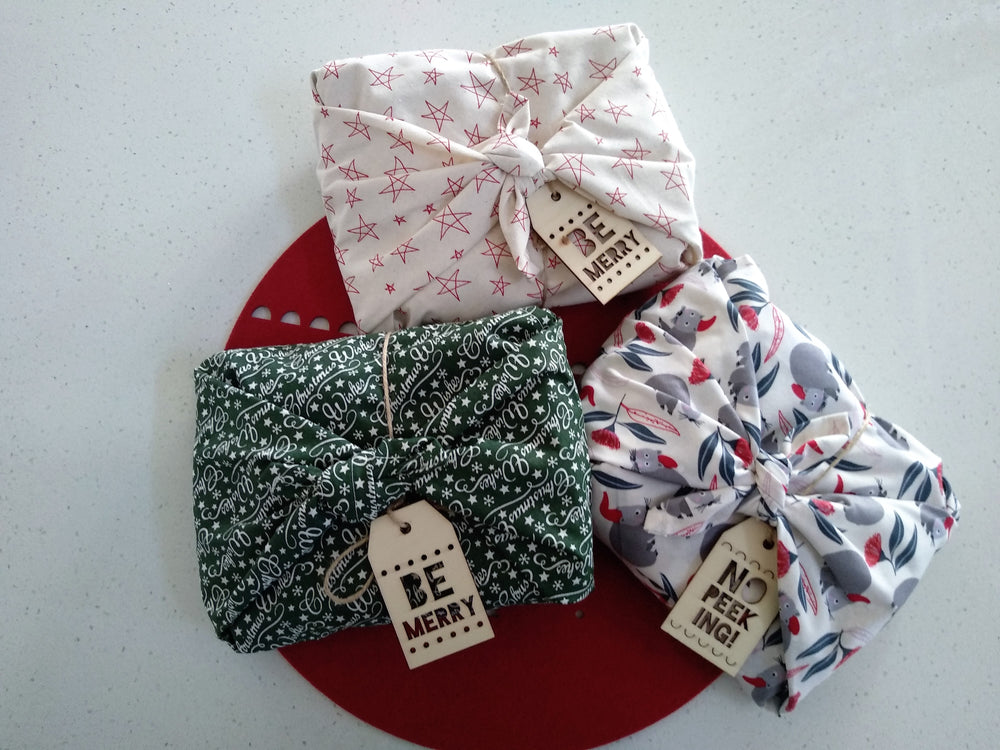 ECO GIFT WRAPS (Christmas Tea Towel)