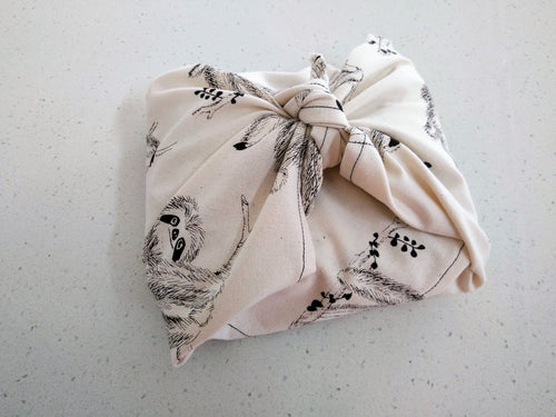 ECO GIFT WRAPS (Sloth Tea Towel)