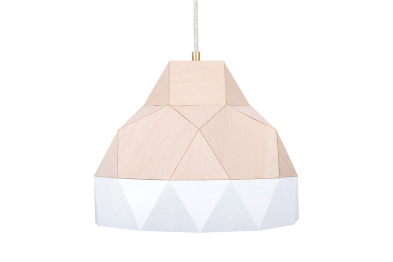 Geometric wood lightshade