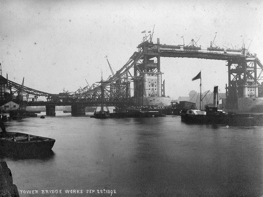 London Tower Bridge during Construction