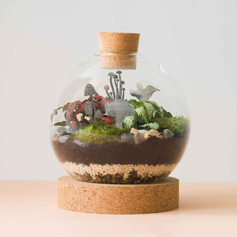 Mini Mushroom terrarium decoration by another studio, silver, terrarium decor