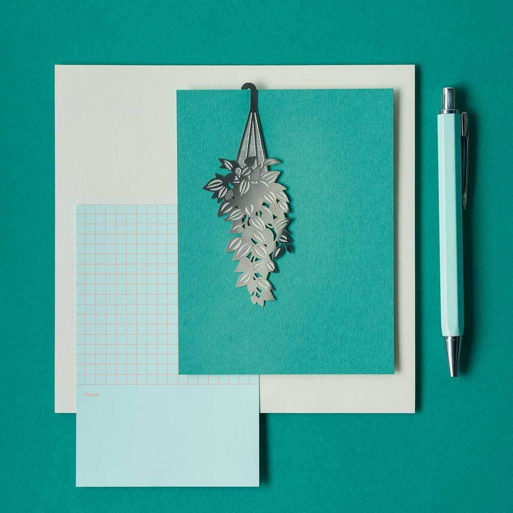 Steel etched Tradescantia bookmark