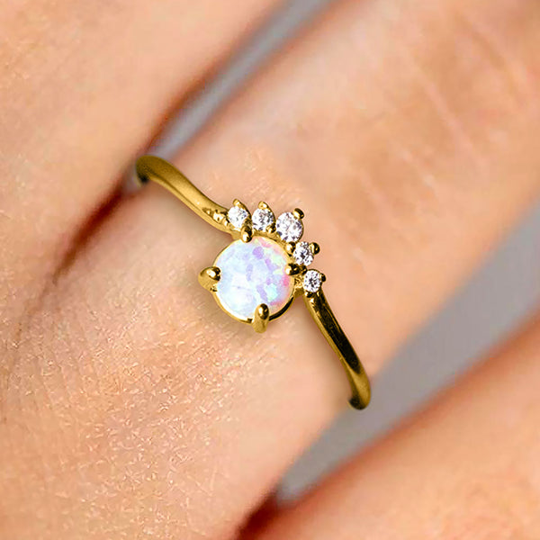 The Opal Crown Ring