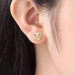 The Open Heart Earrings
