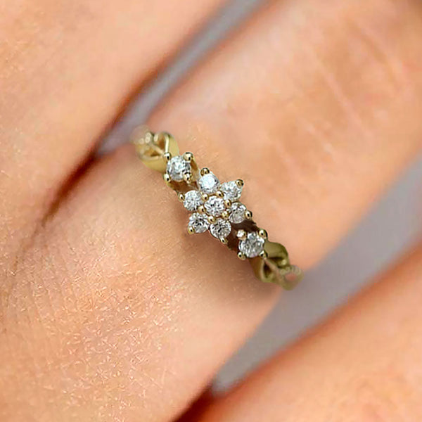 The Joyful Sunflower Ring