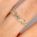 The Crystal Butterfly Ring