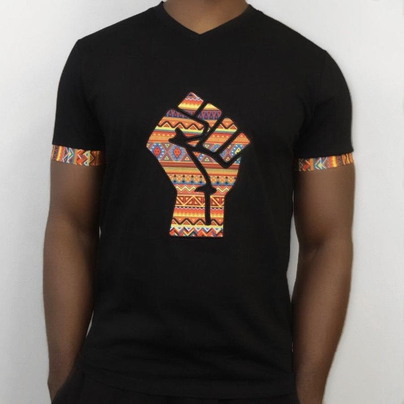 UJIMA V-NECK TEE - BLACK