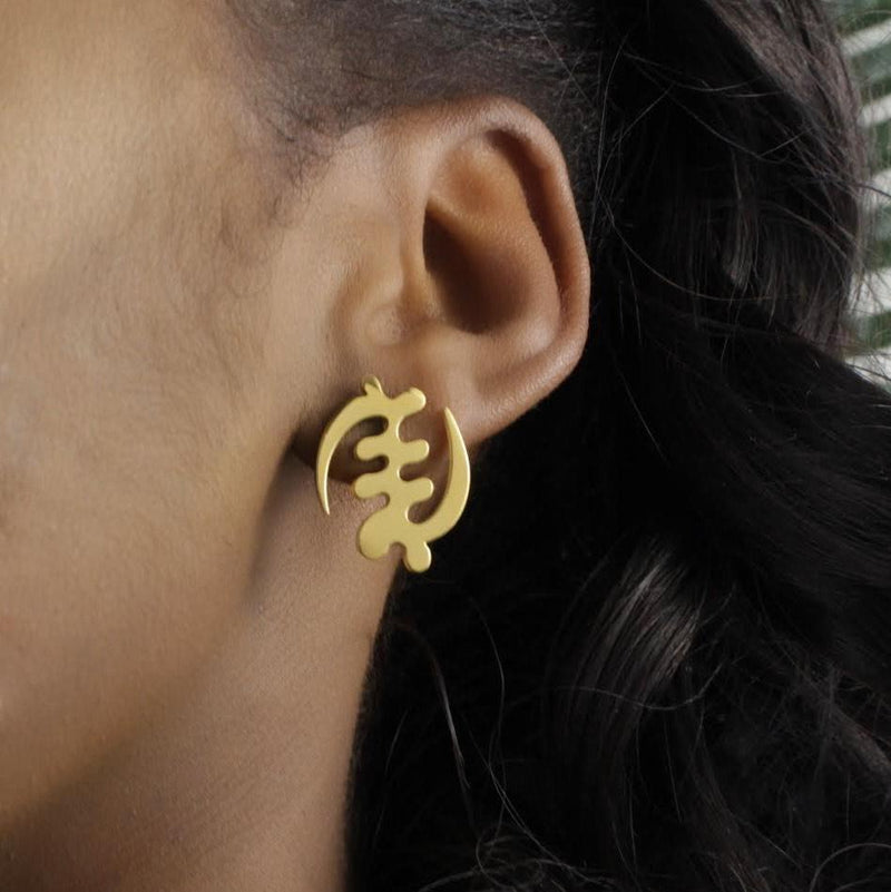 10 Pieces - GYE NYAME STUD (Wholesale)