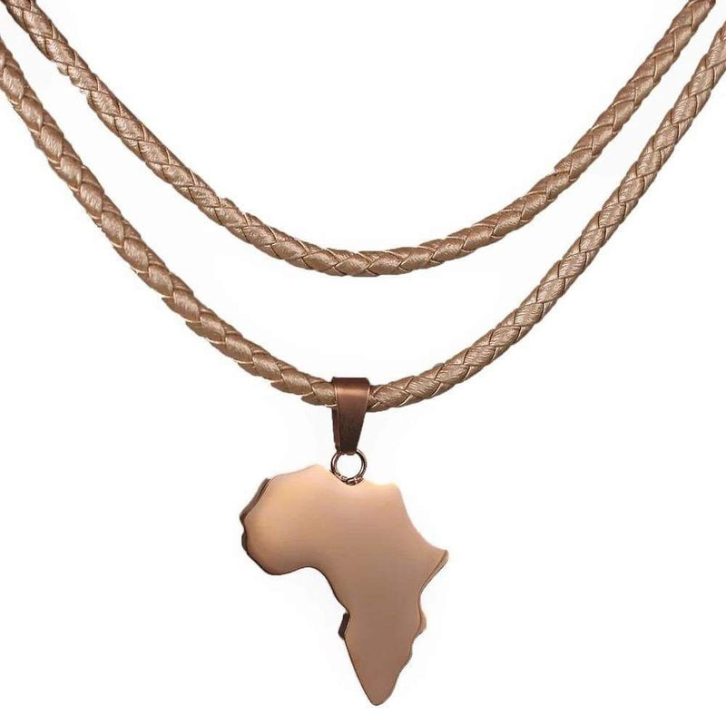 african gold plated necklace