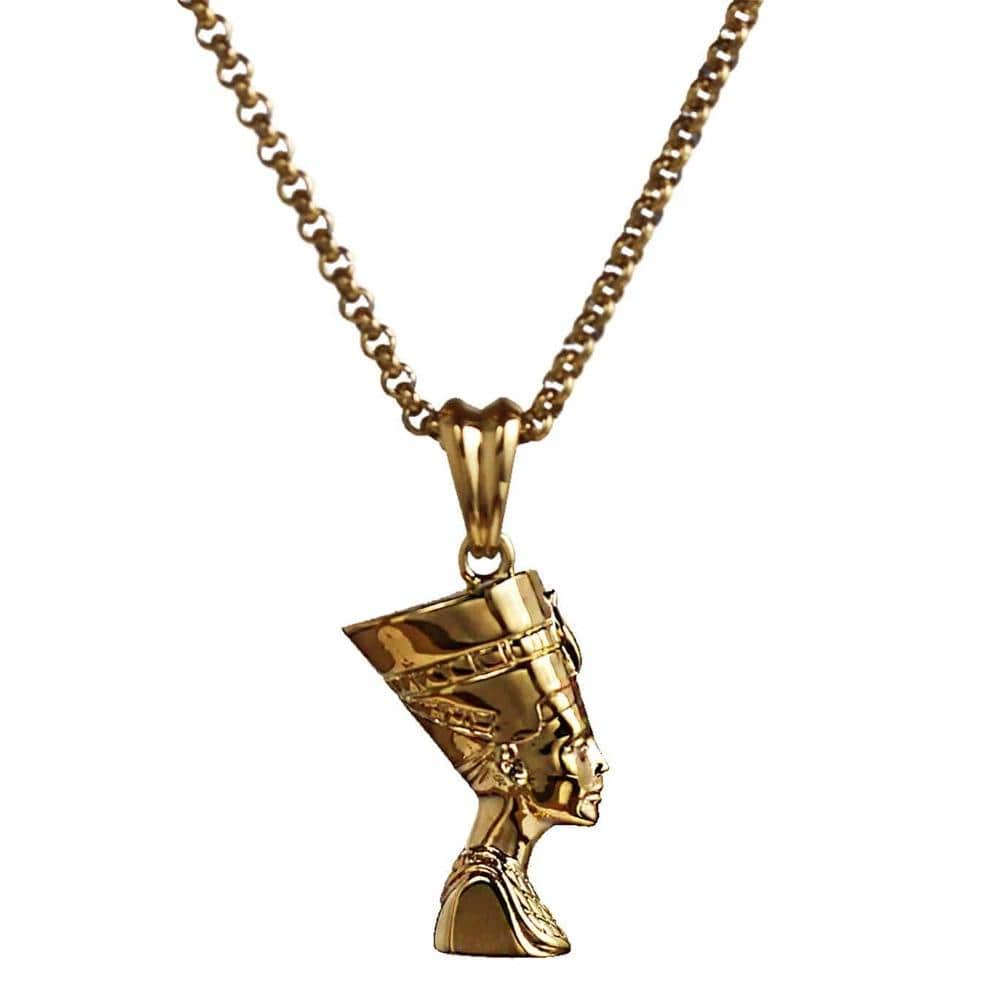gold queen necklace