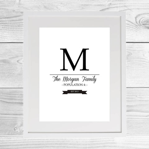 Family Population Framed Print