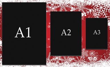 Christmas Canvas Print Bundle A3, A2 & A1