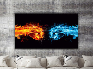 Fire and Ice Art Canvas Print